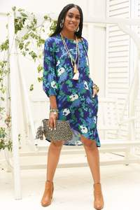Isabell Dress Posy Blue