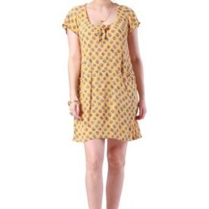 Lottie Dress Black and Mustard