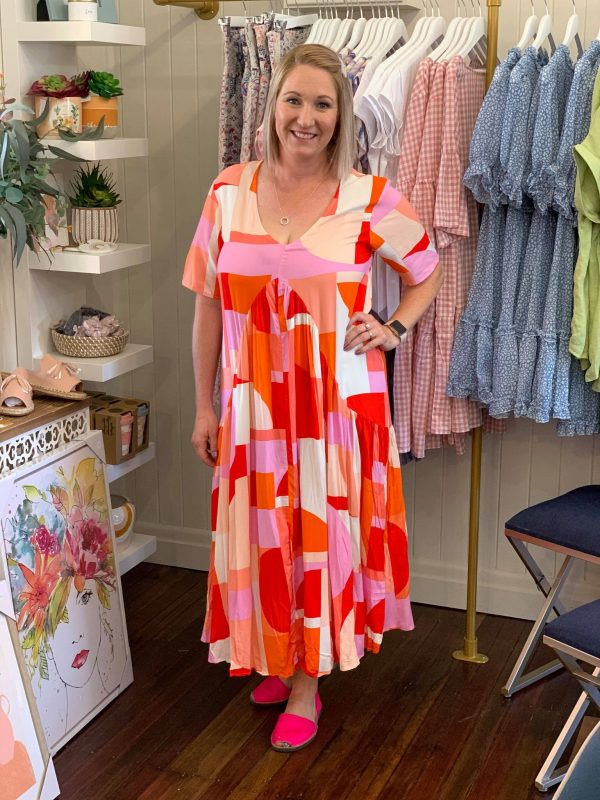 Peak Maxi Go Metric Orange and Pink
