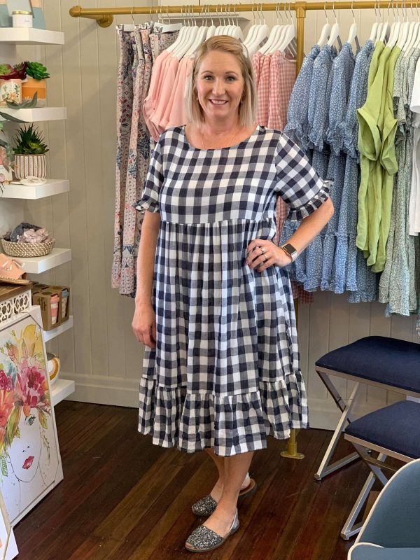 Penny Dress Navy Gingham
