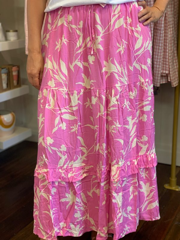 Pia Skirt Pink Floral